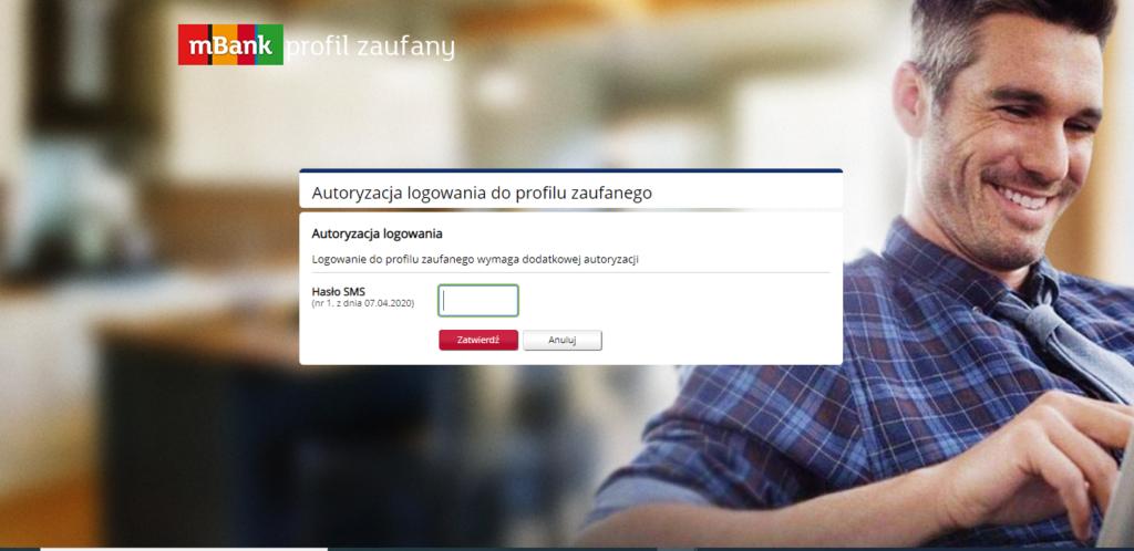 Profil zaufany mBank potwierdzenie hasłem