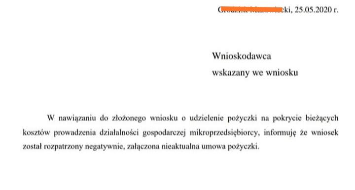 pożyczka 5000 zł tarcza powody odrzucenia wniosku