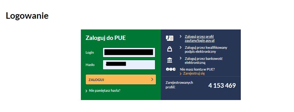 jak zalogować się do E-PUE ZUS poradnik